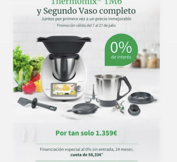 Thermomix® TM6 SIN INTERESES CON DOBLE VASO