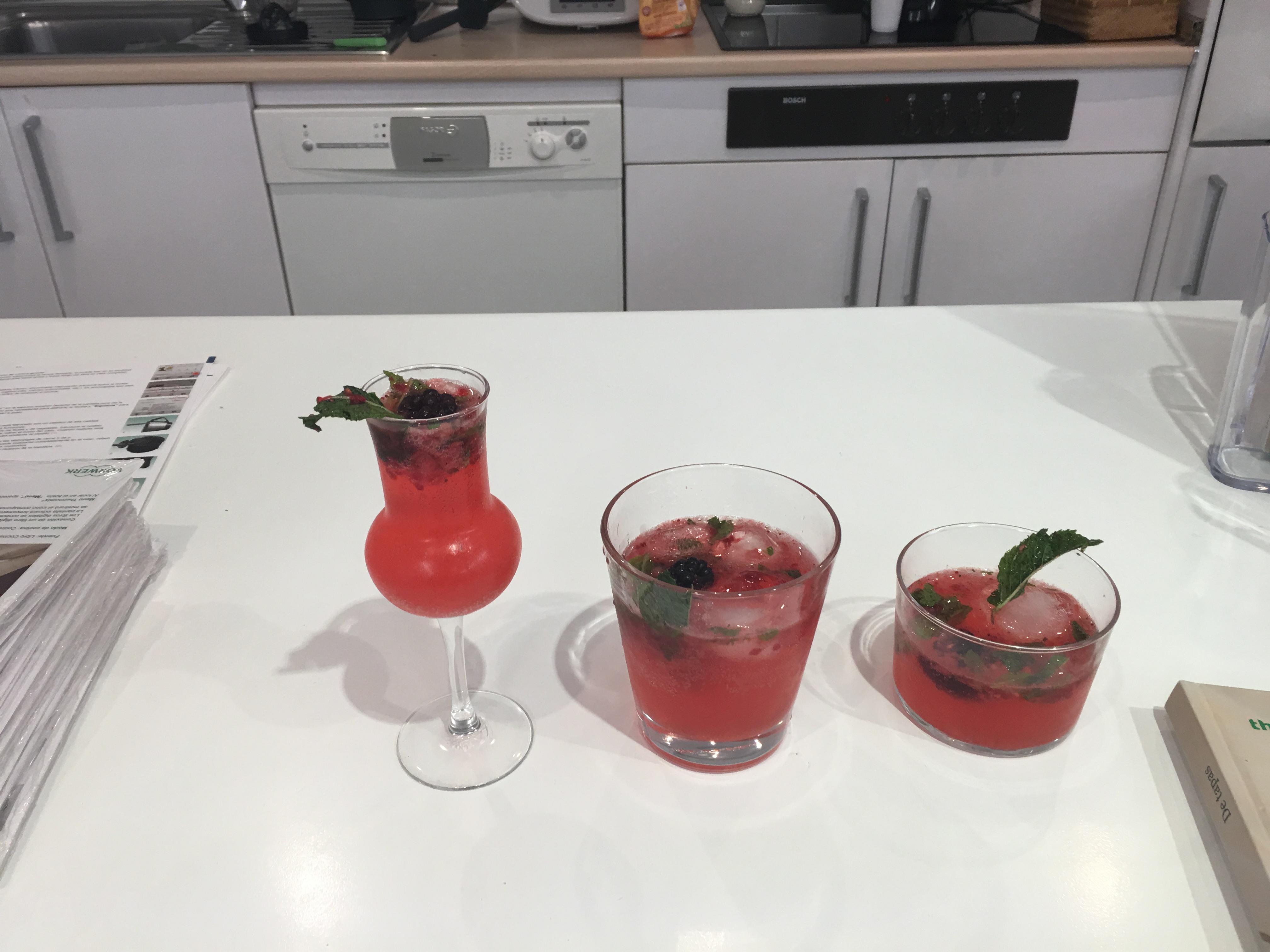VodkaTonic de Moras y Fresas con Thermomix®