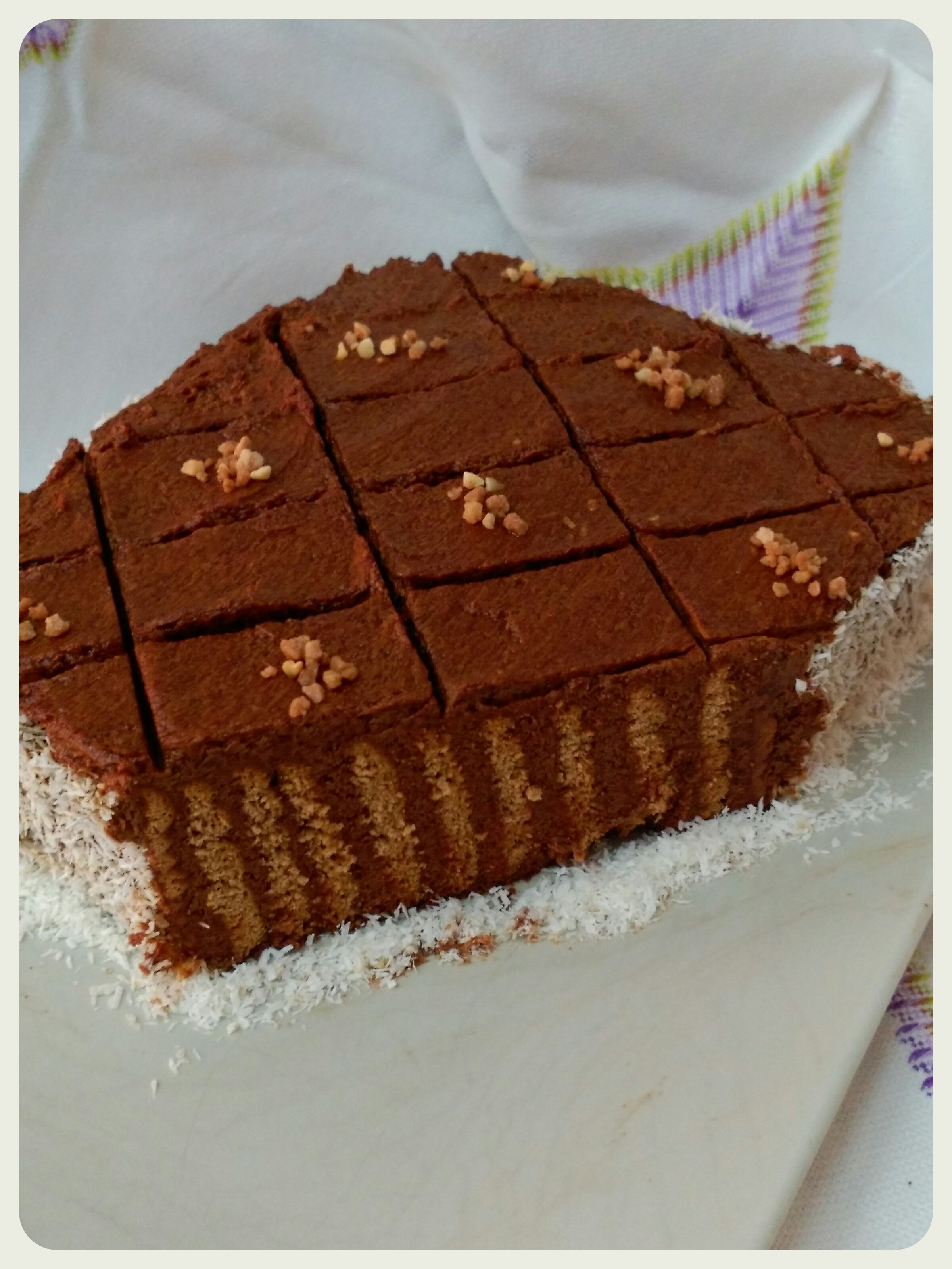 TARTA DE GALLETAS Y ZANAHORIA CON CHOCOLATE CON Thermomix®
