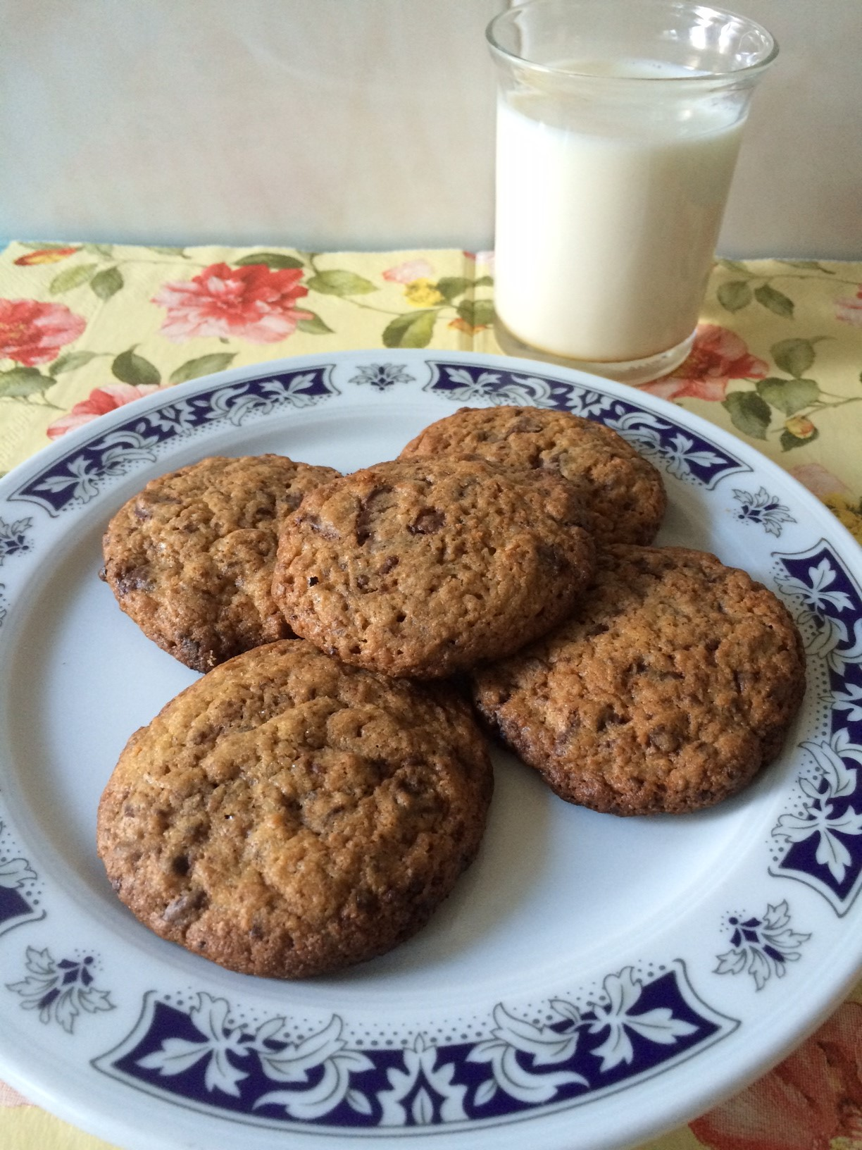 Cookies integrales con Thermomix® (galletas integrales con pepitas de chocolate)