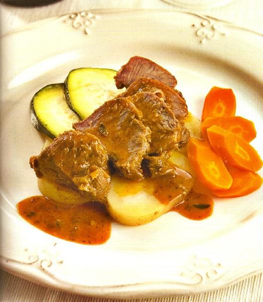 Receta de Carrilleras al pimentón con verduras