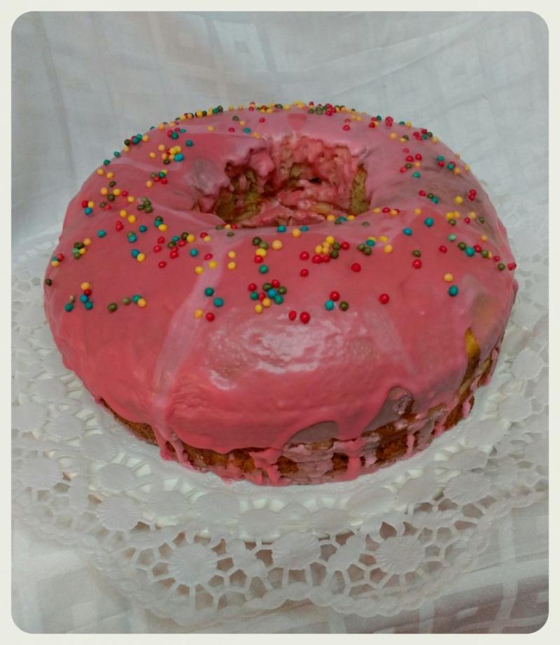TARTA ROSQUILLA GIGANTE (doughnut) con Thermomix®