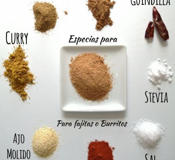 Sazonador casero de especias para fajitas o Burritos con Thermimox®