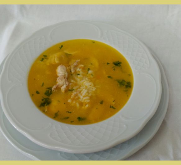 Sopa de arroz y pollo con Thermomix®