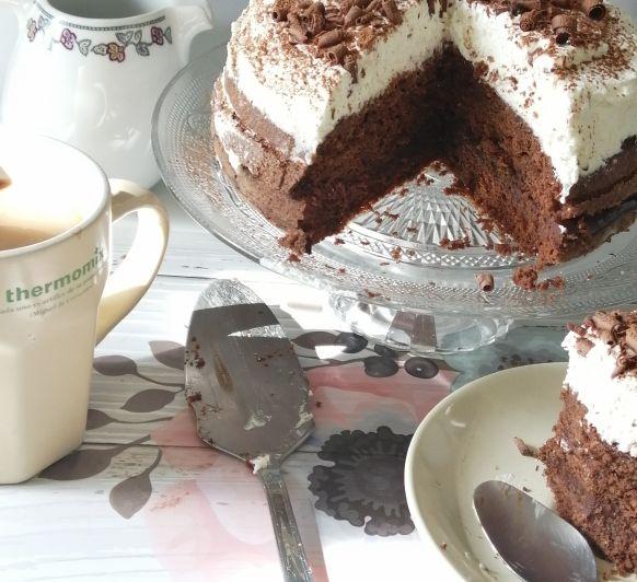 Tarta de chocolate al vapor para el Día de la Madre