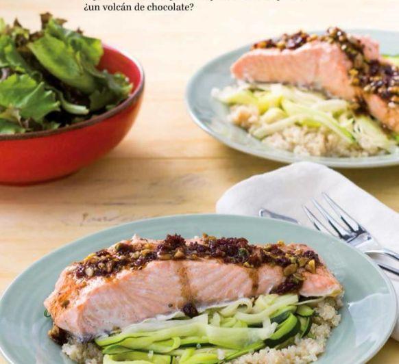 Salmón con calabacín y quinoa con Thermomix®