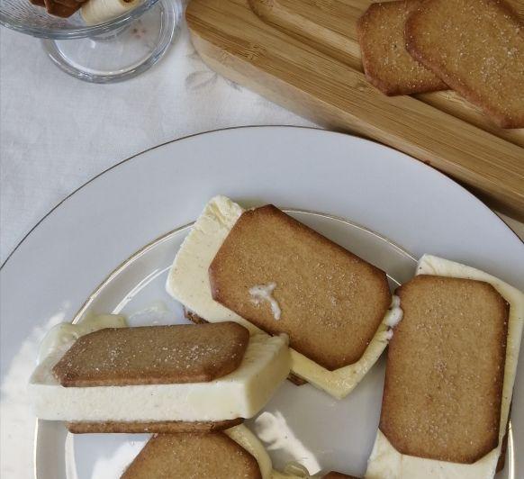 Sándwich de helado mantecado de vainilla con Thermomix®