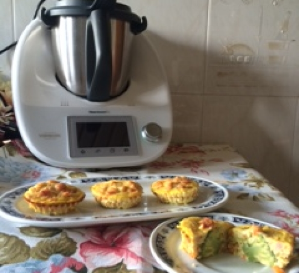 Muffins de brócoli y beicon con Thermomix®