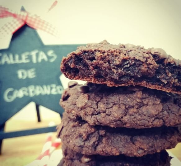 GALLETAS DE GARBANZOS CON CHOCOLATE (sin gluten) con Thermomix®