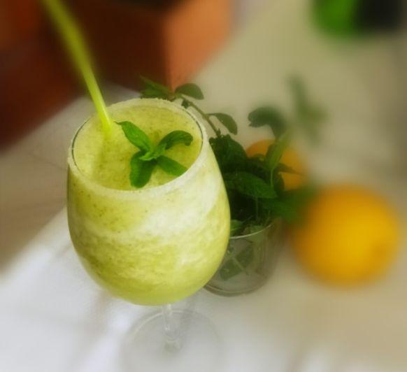 Granizado de manzana con menta en Thermomix®