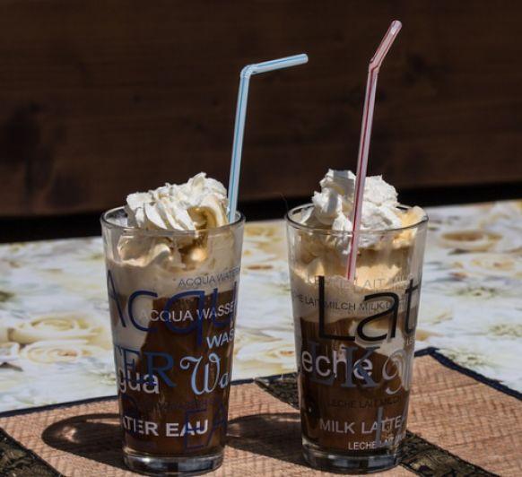 Granizado de cafe con nata montada con Thermomix®