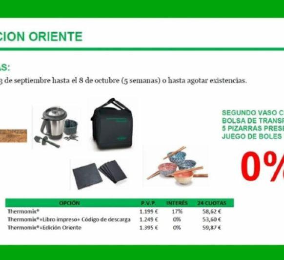 PROMOCIÓN con Thermomix® 0% INTERES EDICION ORIENTE