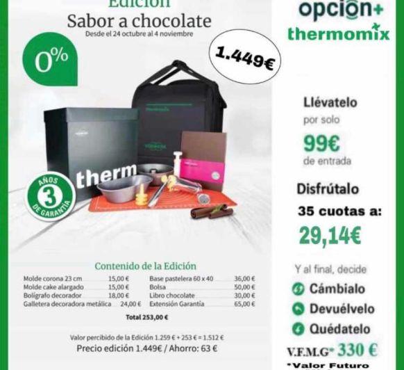 PROMOCION CHOCOLATE Y 0% INTERES CON Thermomix®