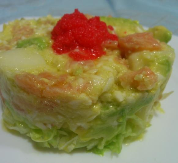 Ensalada de Patata con Salmón y Aguacate