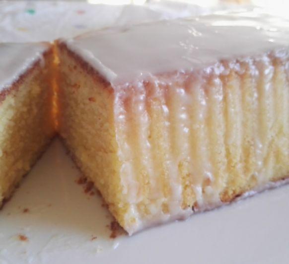 CAKE DE LIMÓN CON GLASEADO BLANCO CON Thermomix®