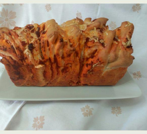Pan milhojas de sobrasada y queso SIN lactosa y con Thermomix®
