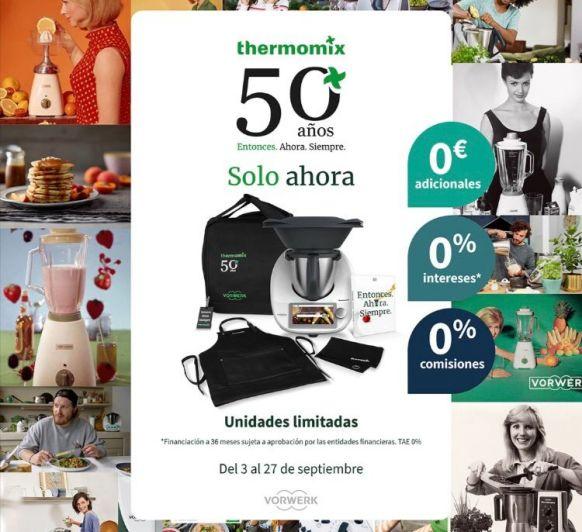 SOLO AHORA 0% INTERESES CON LA EDICION 50 ANIVERSARIO THERM0MIX®