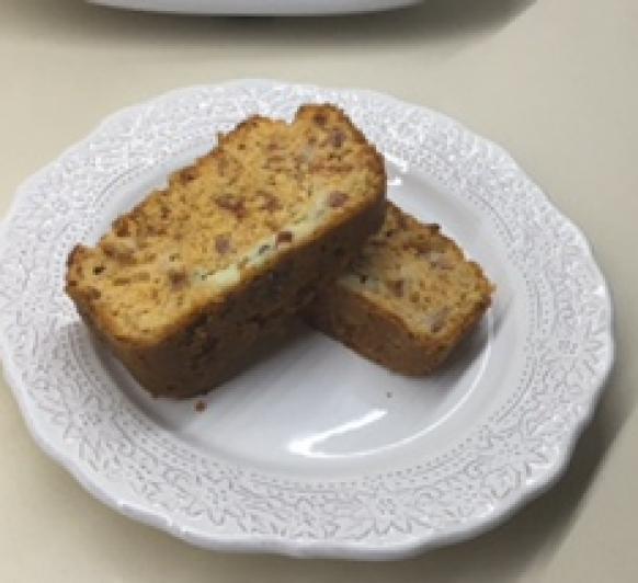 Cake de Tomates secos, gorgonzola y beicon con Thermomix® Córdoba