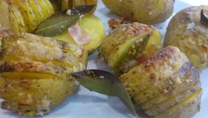 Patatas Nuevas Hasselback